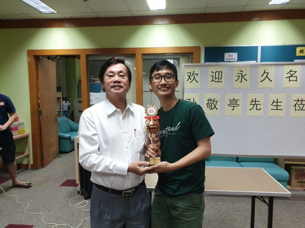 刘亿豪勇夺第三届会员赛冠军 全国赛颁奖孙敬亭赠神秘礼物